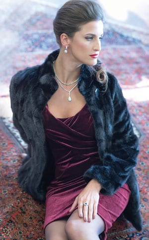 The New Fur Collection: Stunningly beautiful high-gloss mink jacket