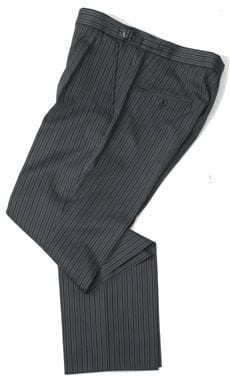 Pure wool morning trousers to match morning tailcoat: 510g, 18oz, black or navy