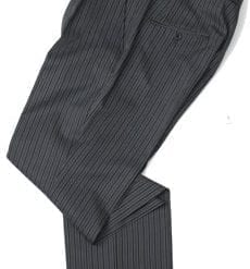 Pure wool morning trousers to match morning tailcoat: 460g, 16oz, dark grey