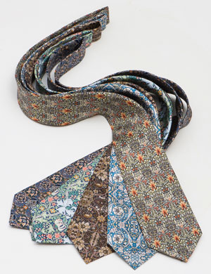 Sophisticated pure silk ties for the artistic man: homage to the English designer William Morris