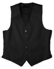 Fine wool formal dress vest (waistcoat) to match formal tailcoat and trousers: black or navy, 510g (18oz)