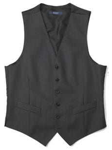 Fine wool formal vest (waistcoat) to match formal tailcoat and trousers: dark grey, 460g (16oz)