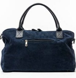 Classy and versatile new Italian suede 24-hour holdall, only £67