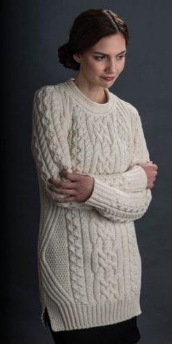 In-vogue Aran merino sweater-dress or tunic: Valentino style without the price tag!