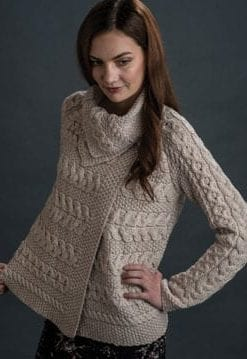 Scene-stealing new Aran merino wool top from Irish knitters Westend