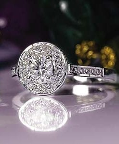 Classic Diamond Circular Cluster Ring