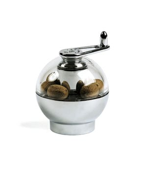 Fresh nutmeg, every time: the superb chrome ternate 9cm Peugeot Nutmeg Mill