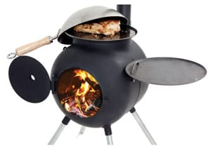 The Ozpig from the Outback: outdoor wood stove, barbecue, fire pit and heater