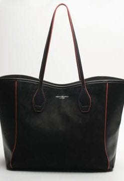 Soft Focus: Luxurious leather and suede Olivia shopper-tote by Thomas Lyte
