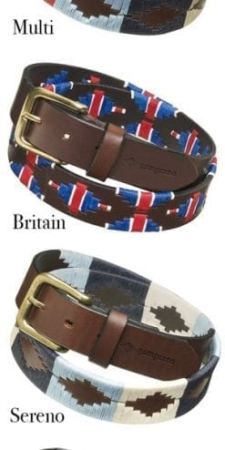 Finest quality, handmade genuine pampeano polo belts from Argentina: true meaning of the word El Snippo!