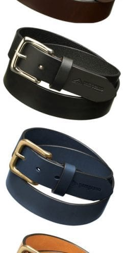 Handmade in Argentina: plain leather belt by pampeano: black, brown, navy and tan: El Snippo at £35
