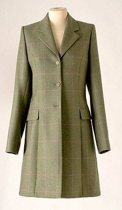 Smart new tailored coat in pure Irish tweed
