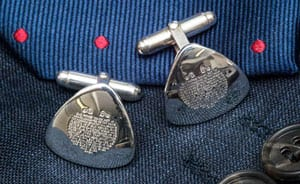 The Lord's Prayer in English silver: beautifully handcrafted cufflinks