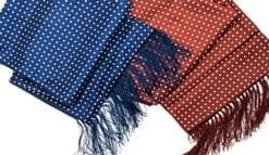 Smart silk and wool reversible scarf for gentlemen, only £29