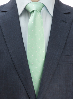 Smart pure silk polka dot tie: a snip at £17 delivered