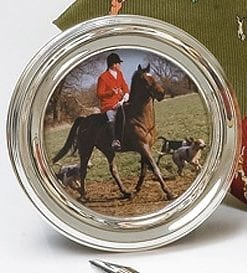 Round English solid silver picture frame