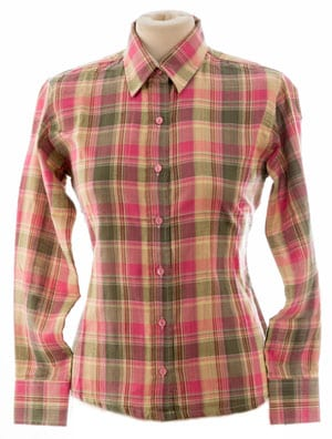 New English made pure cotton check shirt for ladies