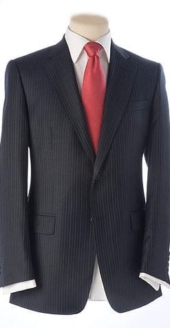 Hand-stitched navy suit extra pair of trousers