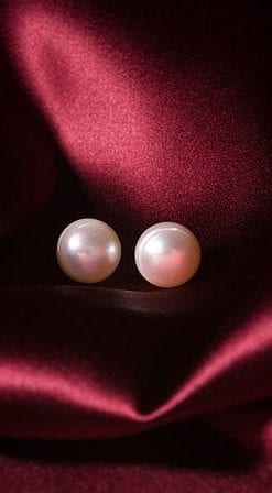 12mm pearl earrings with sterling silver clips