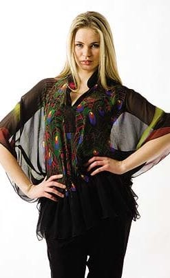Silk Peacock Tunic
