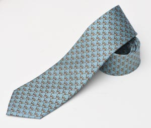 The gentleman's tie, naturally elegant: pure silk Brace of Pheasants Tie by Bryn parry for Fox & Chave