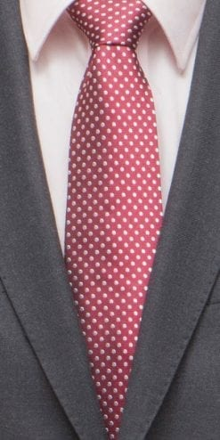 Smart woven pure silk pin dot tie: wine or navy with white: a snip at £17.50