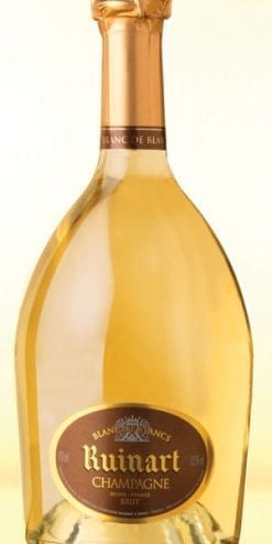 The famous golden Ruinart Blanc de Blancs Champagne: a superb exclusive deal for Members only: save £91