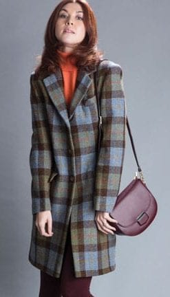 The New British Heritage: Windsor Check Coat in pure wool handwoven Harris Tweed