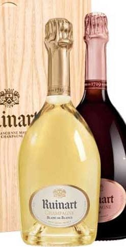 Sensational Ruinart Blanc de Blancs and Rosé Champagne in a limited edition presentation case, a snip at £89 delivered