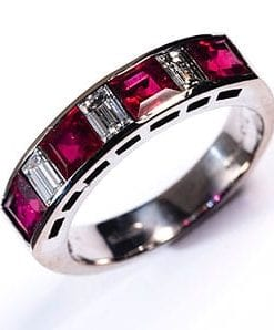 New Hatton Garden Collection: Burmese ruby and diamond eternity ring