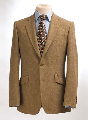 Hand-finished pure wool silky soft tweed jacket