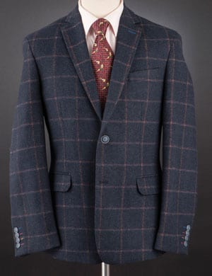 Super new pure wool jacket with personality and style, tailored by English tailors Gurteen