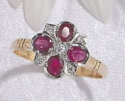 The Heritage Collection: Flower power in the new Daisy Ring in rubies, diamonds and 18ct gold