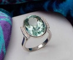 Fabulous Large 9.5 Carat Aquamarine, Diamond and 18ct Gold Hatton Garden ring, save £3,300