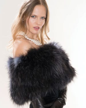 New fur collection: gorgeous racoon shoulder-covering shrug