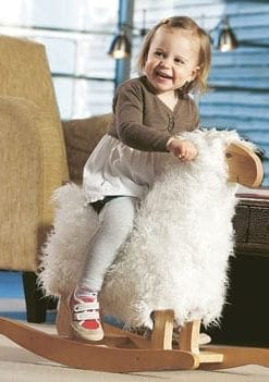 Gorgeous new woolly Rocking Lamb from Sweden
