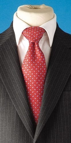 Red and grey  silk tie