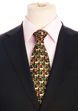 Pure silk equestrian tie, only £15