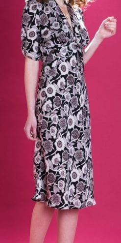 Velvet Revolution: the new Nancy Mac Collection: Sable day dress in Aubrey floral crepe