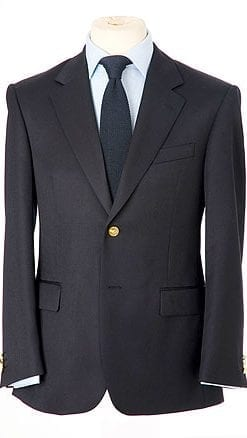 Well-cut pure wool single-breasted navy blazer, only £97