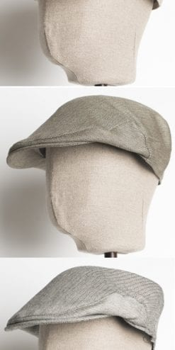 Christys' & Co Balmoral smooth silk-and-camel herringbone flat cap for summer