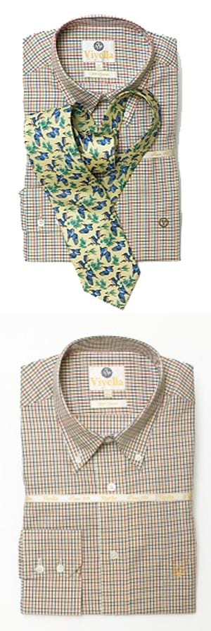 Viyella Pure Cotton Mini Check Shirt