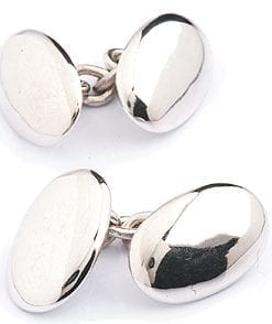 Solid silver cufflinks
