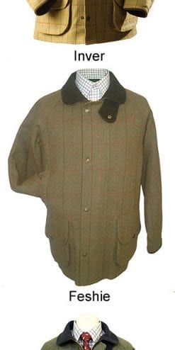 Pure wool tweed waterproof men's shooting coat