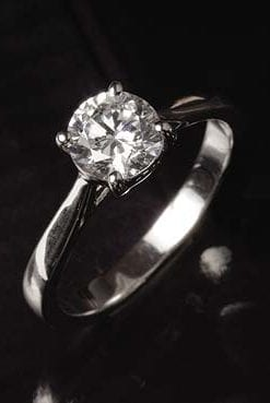 Top quality half-carat single solitaire diamond ring from Hatton Garden