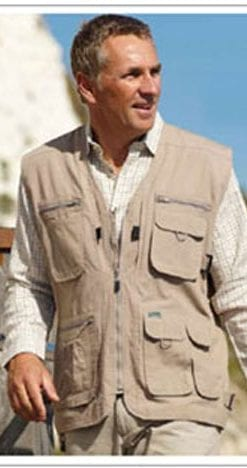 Versatile multi-pocket lightweight gilet: a snip at only £11