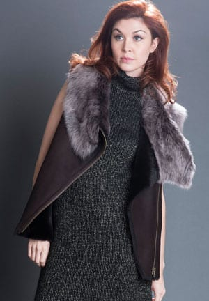 Shearling, The Ins and Outs: fabulous soft shearling zipped gilet