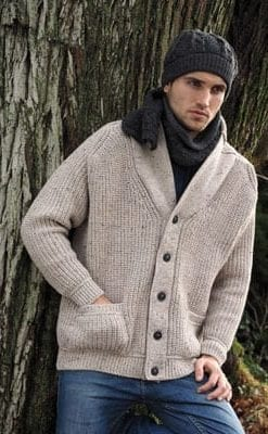 Heritage and modern style: stylish new Merino wool cardigan