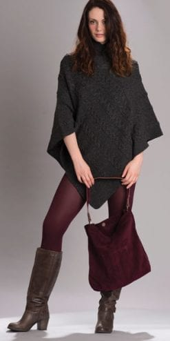 The Wool Pack: The on-trend Aran cape by Westend Knitwear