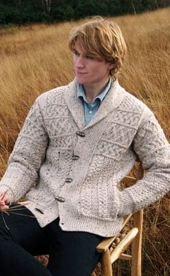 Smart, fashionable pure merino wool cardigan for stylish men